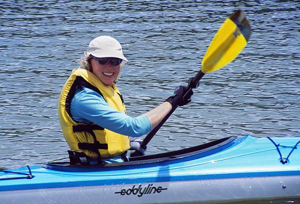 Karen-Kayaking-Cliff-Lake